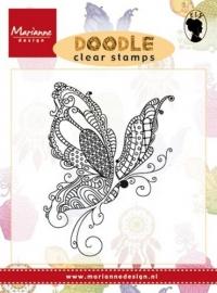 CE180016/2216- Marianne Design clearstamp doodle vlinder - EWS2216