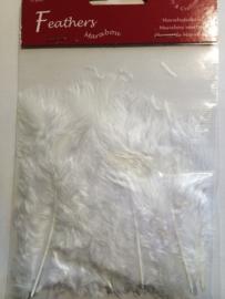CE800804/2802- 15 stuks Marabou veren wit van 7 tot 14cm