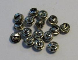 4301 - 16 stuks belletjes van 10 mm. staalkleur