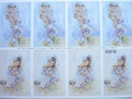 kn/510- A4 knipvel AANBIEDING fairy poppets 85/9