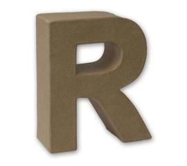 1929 3118- stevige decoratie letter van papier mache - 3D letter R