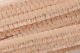 8476 209- 10 stuks chenille draad van 50cm lang en 8mm breed apricot