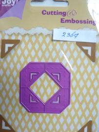 0002367- Joy0124- stencil 4 stuks kleine hoekjes van 2.5x2.5cm OPRUIMING