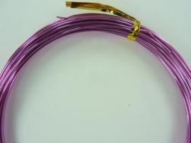 CH.10x20.B- 10 meter aluminiumdraad (Wire&Wire draad) van 1mm fuchsia