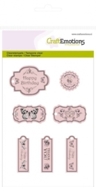 CE130501/1018- clearstamps A6 labels botanical