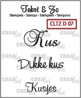 CE130505/1707- Crealies clearstamp tekst & zo divers no.7
