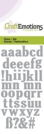 CE115633/0164- Craft Emotions Die 5x10cm kleine letters alfabet