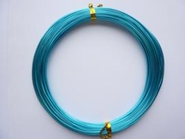 AW.02- 20 meter aluminiumdraad (Wire&Wire draad) van 0.8mm dik turquoise