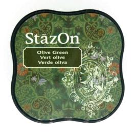 CE132021/4051- Stazon inktkussen midi olive green SZ-MID-51