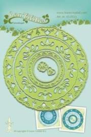 CE115645/0553- Le Crea Lea'bilitie snij- & embossingmal frame circles