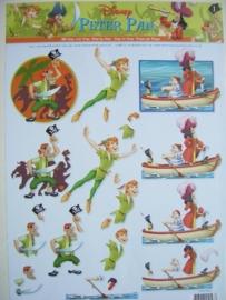 kn/601- A4 knipvel Disney Peter Pan nr.1