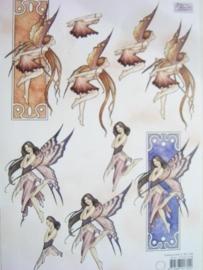 kn/422- A4 knipvel AANBIEDING Marianne D fairies