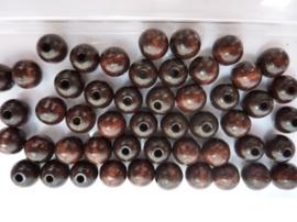 6011 079 - 50 stuks A-kwaliteit houten kralen van 10mm donkerbruin