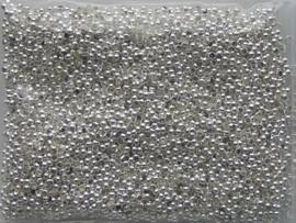 ca. 5000 x knijpkralen 2mm zilverkleur 4CB22