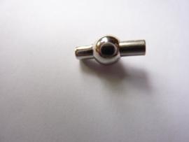 CH.230staal- magneetsluiting van 14x6mm voor 1.5-2mm draad staalkleur