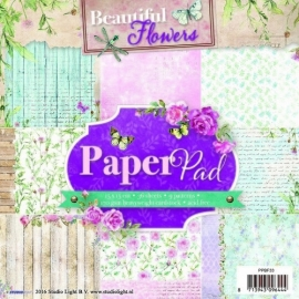CE117015/1631- 36 vel Studio Light paper pad beautiful flowers nr.33 15x15cm