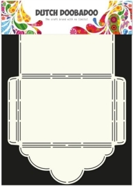 CE185071/3019- Dutch Doobadoo envelope stencil art scallop A4