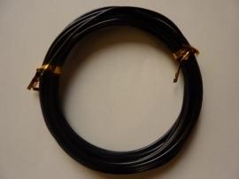5 meter aluminiumdraad (Wire&Wire draad) van 2mm dik zwart