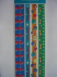 5098- diverse randen 30x13cm FMI stickers
