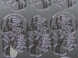 st 296- madonna zilver 10x20cm