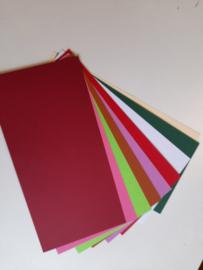 Kleuren mix - 10 stuks vierkante kaarten - gerild