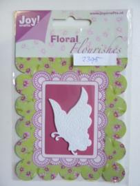 0002395- Joy Crafts stencil foam Flourishes vlinder - OPRUIMING