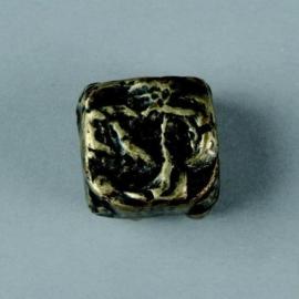 metalen kraal antiek goud 17mm 117465/2659