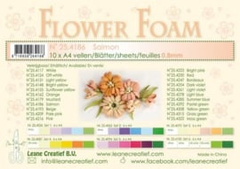 CE800205/4186- 10 sheets flower foam sheets A4 - zalm