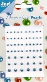 JOY6020/0017- Joy! crafts kaartje met zelfklevende halfronde parels azuurblauw