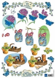kn/1533- A4 knipvel Marianne D Shake it vlinder op bloem - 117140/0513