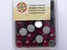 00514- 24 x glazen kristal plaksteentjes 7mm crystal ruby SUPEROPRUIMING