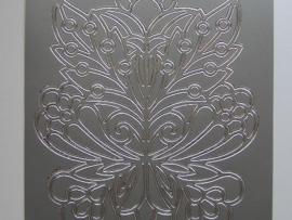 st717- sticker met grote ornamenten zilver 10x20cm