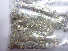 000509- 1440 kristalsteentjes SS6 2mm crystal zilver - AB - SUPERLAGE PRIJS!