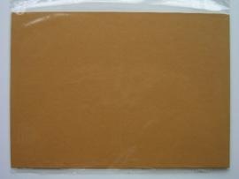 08097- 5 x luxe dubbele kaarten gerild standaard formaat licht bruin 10.5x14.8cm SPECIALE AANBIEDING