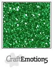 CE001290/0105- 5 vellen glitterpapier 120grams 29x21cm kerstgroen