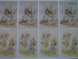kn/129- A4 knipvel AANBIEDING fairy poppets 9