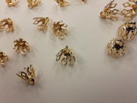 CH.022 goud 20 stuks steenkapjes 8 x 7 goudkleur - past altijd - superlage prijs!