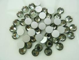 000540- ruim 50 kristalsteentjes SS30 6.4mm black diamond - SUPERLAGE PRIJS!