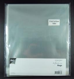 JOY8001/0355- 100 stuks kaartenzakjes zelfklevend 215x215mm