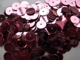 10 gram platte 8 mm.pailletten metaal/leverkleur
