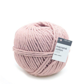 CE890030/4312 - Vivant macrame katoenkoord 5 mm. dik – roze - 150 meter