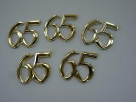 SLK.117- 5 stuks sierletters 65 goudkleur 15mm hoog