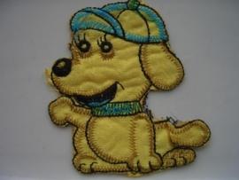 A303- strijk applicatie hondje ca. 8cm AANBIEDING