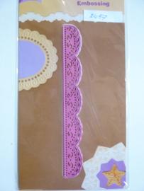 0002456- Joy Crafts stencil sierrand 15x1.9cm OPRUIMING