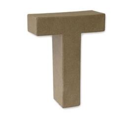 1929 3120- stevige decoratie letter van papier mache - 3D letter T