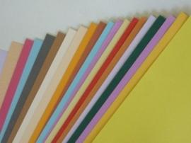 002017- OPRUIMING - 20 vellen A4 kaartkarton met divers reliëf - kleurenmix A-kwaliteit