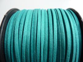 3 meter imitatie suede veter van 3mm breed turquoise