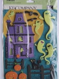 5142- K&Co 3D stickers halloween 11.5x15cm