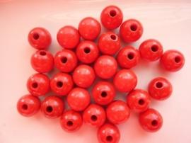 KN6021 161- 28 stuks houten kralen 12mm karmijn rood