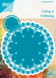 JOY6003/1002- Joy! crafts Noor design cutting & embossing stencil rond nr.2